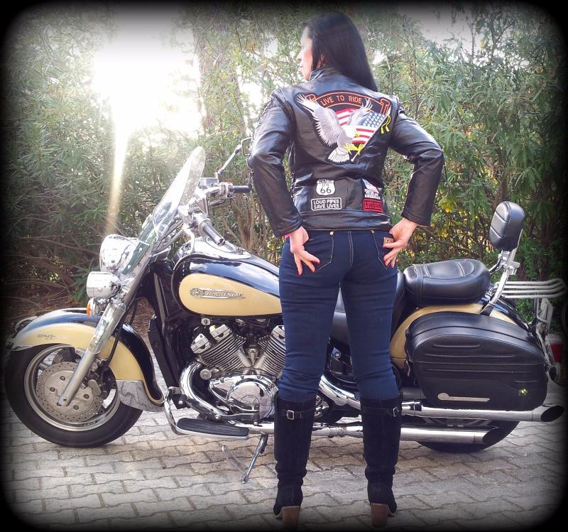 blouson en cuir aigle live to ride femme pour bikers. Black Bedroom Furniture Sets. Home Design Ideas