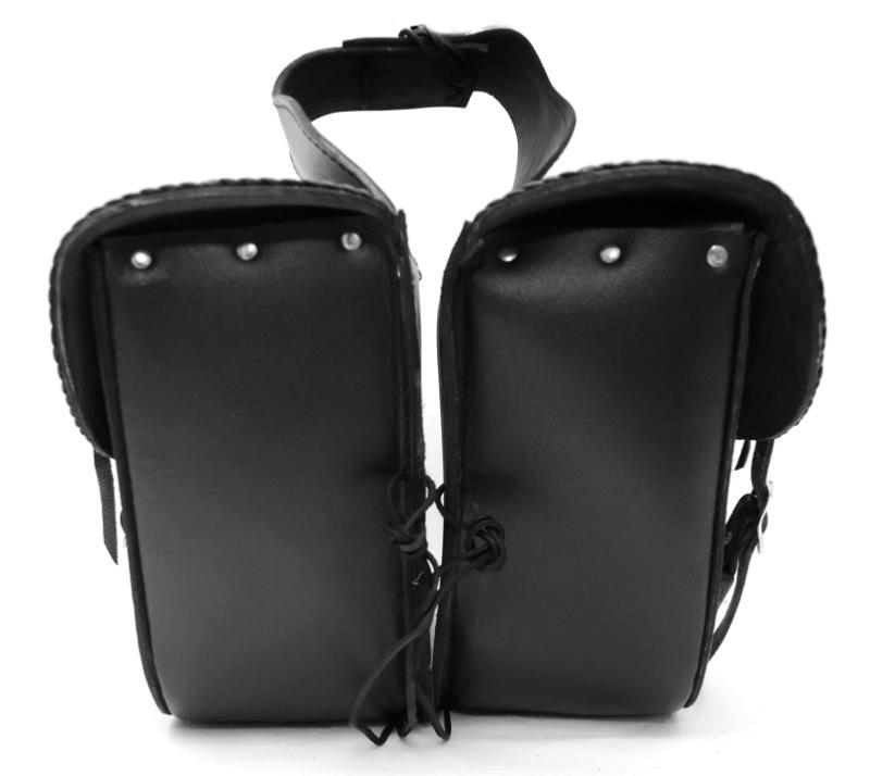 paire de sacoches cavali re en cuir simple mod le. Black Bedroom Furniture Sets. Home Design Ideas