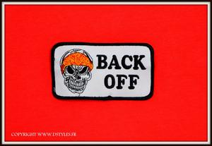 "Patch / écusson "" Têtes De Mort / Back Off """