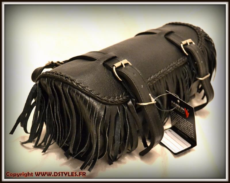 tool bag with fringe soft leather for motorcycle custom harley style new ebay. Black Bedroom Furniture Sets. Home Design Ideas