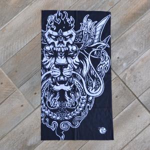 tour de cou de protection skull lion id al moto. Black Bedroom Furniture Sets. Home Design Ideas