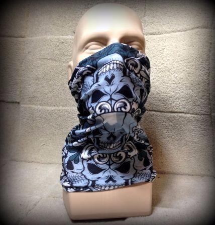 tour de cou cagoule cache nez face mask t te de mort skull sc 0130 ski moto ebay. Black Bedroom Furniture Sets. Home Design Ideas