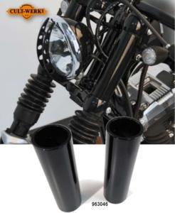 CULTWERK : Fourreau couvre tube de fourche Noir pour Harley Sportster ( iron forty nightster XL 48)