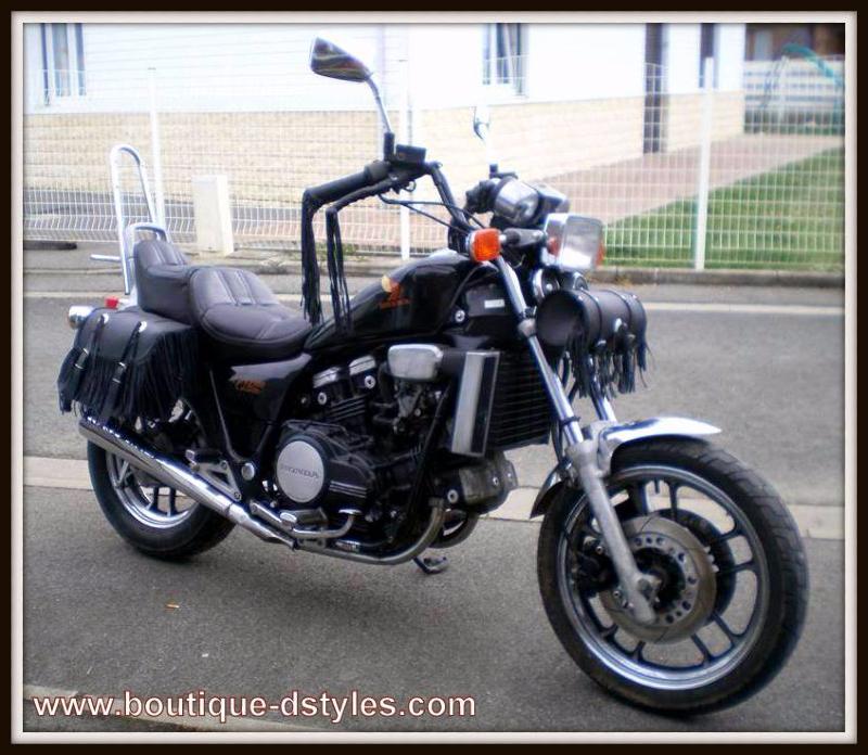 borse biker in cuoio con frange per moto custom harley shadow virago ebay. Black Bedroom Furniture Sets. Home Design Ideas