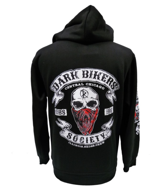 sweat shirt capuche biker