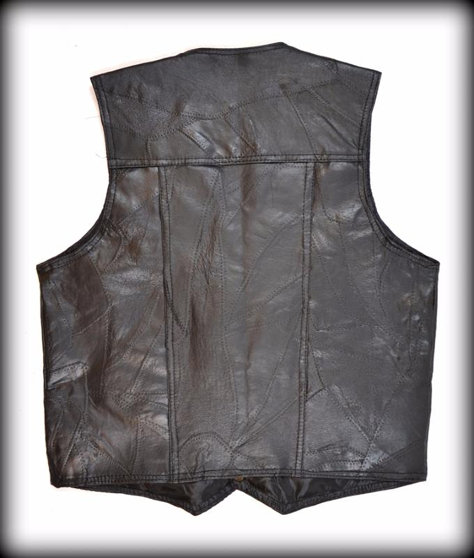 gilet en cuir sans manches homme ou femme grande taille dispo s 7xl ebay. Black Bedroom Furniture Sets. Home Design Ideas