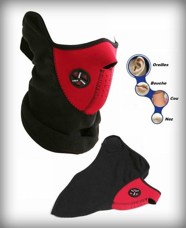 cagoule cache nez masque de protection rouge id al moto quad trike ski scooter snow. Black Bedroom Furniture Sets. Home Design Ideas