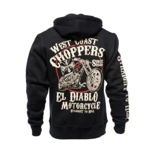 Veste sweat zipé Noir West Coast Choppers WCC El Diablo