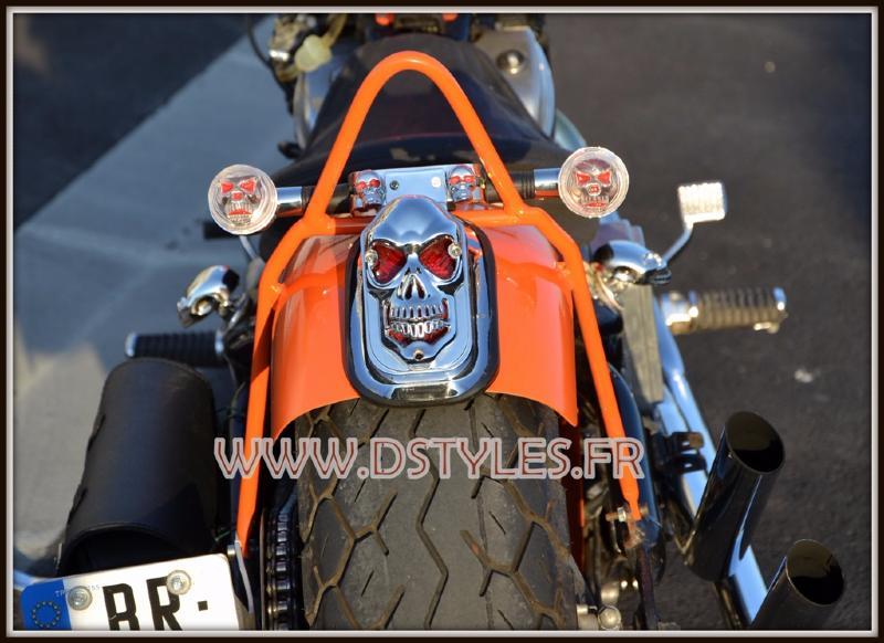 Feu Arri Re Support De Plaque T Te De Mort Clignotants Skull Moto Custom Ebay
