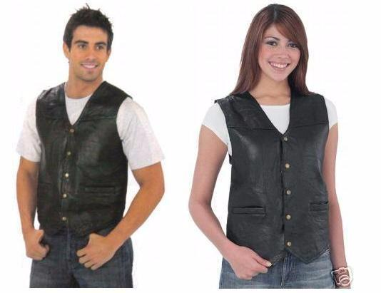 gilet en cuir patchwork sans manche homme ou femme grande taille dispo s 7xl ebay. Black Bedroom Furniture Sets. Home Design Ideas