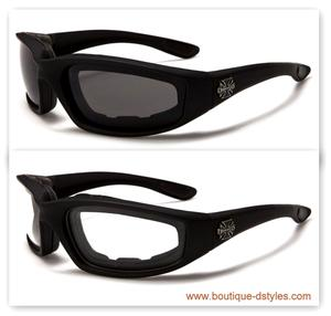 *LOT 2 DE PAIRES* Lunette Croix de Malte Choppers (bikers)