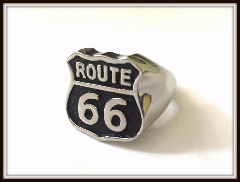 bague homme route 66