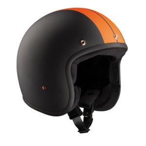 Casque jet BANDIT Noir & Orange MAT